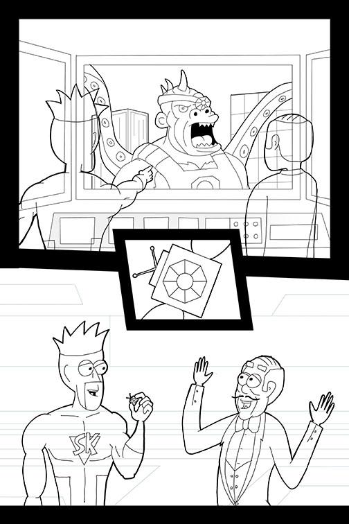 Comic Book Art Page 25_line