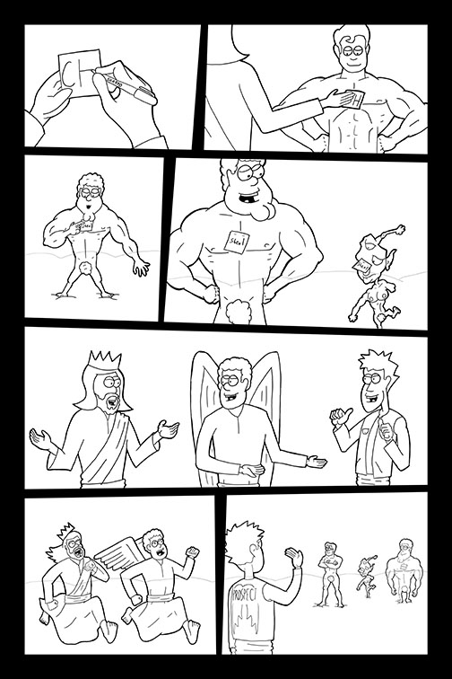 Comic Book Art Page 33_line