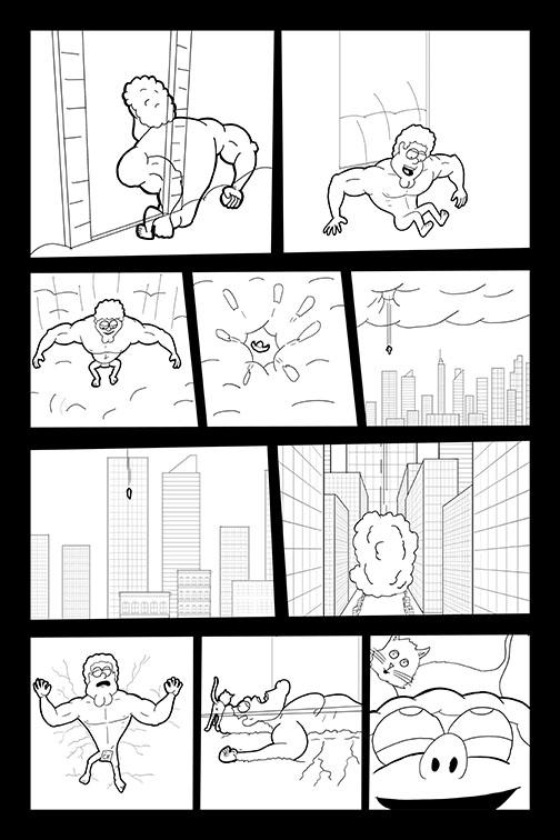 Comic Book Art Page 43_line