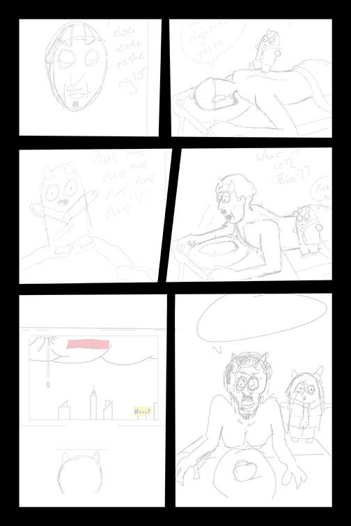 Comic Book Art Page 45_line