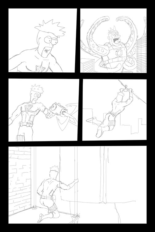 Comic Book Art Page 49_line