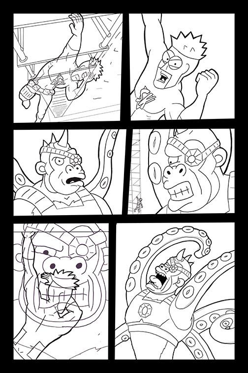 Comic Book Art Page 52_line